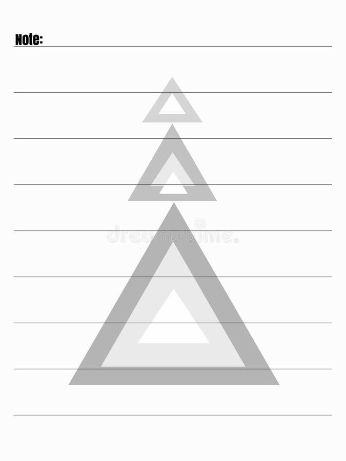 Forma de diario stock de ilustración