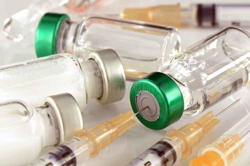 Forma de dosificación farmacéutica de la inyección fotografía de archivo libre de regalías