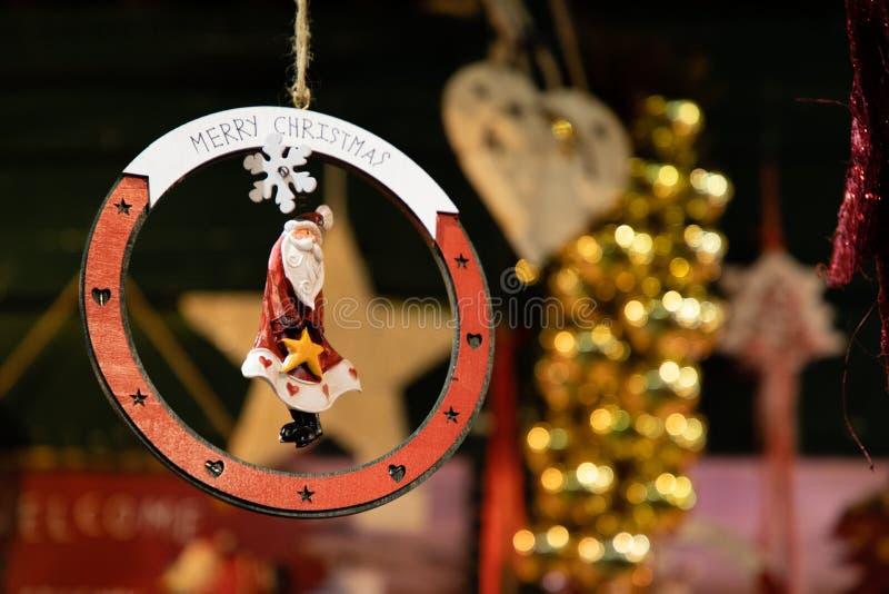 Forma de la decoración de la estrella del árbol de navidad imagenes de archivo