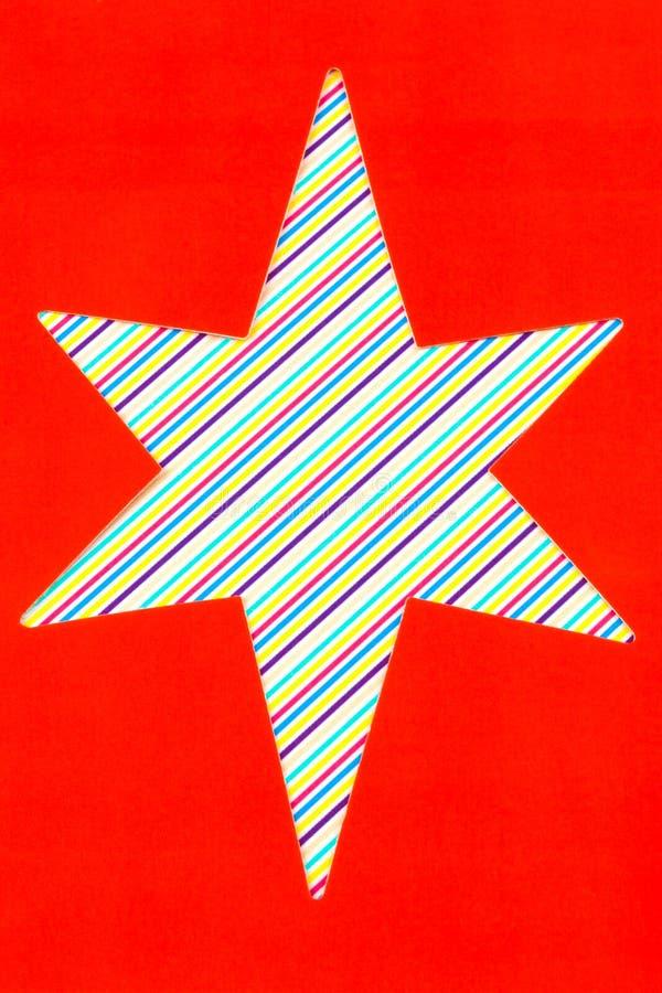 Forma de la estrella del recorte foto de archivo