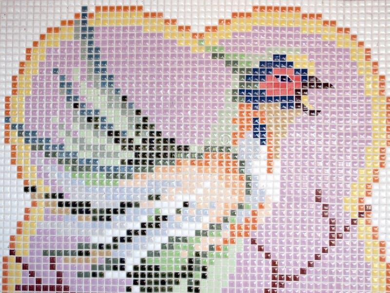 Forma de la forma del pájaro en ladrillo fotos de archivo libres de regalías