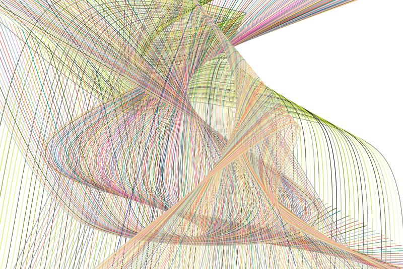 Forma de la línea y de la curva, modelo geométrico abstracto del fondo Vector, creativo, contexto y diseño libre illustration