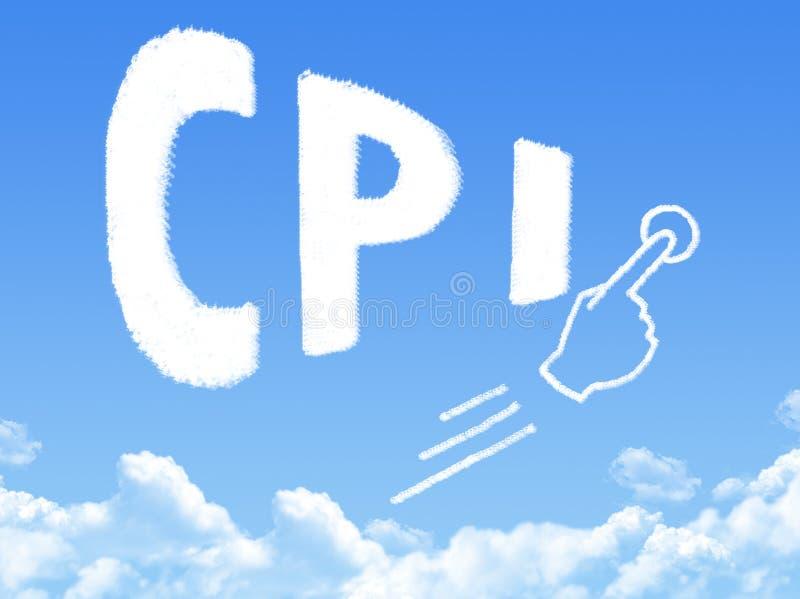 Forma de la nube del mensaje del índice de precios al consumo libre illustration