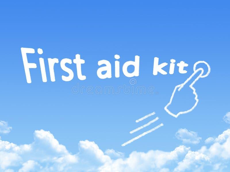 Forma de la nube del mensaje del equipo de primeros auxilios ilustración del vector
