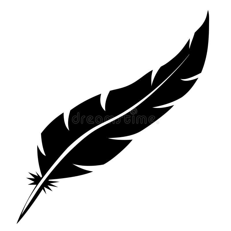 Forma de la pluma de pájaro stock de ilustración