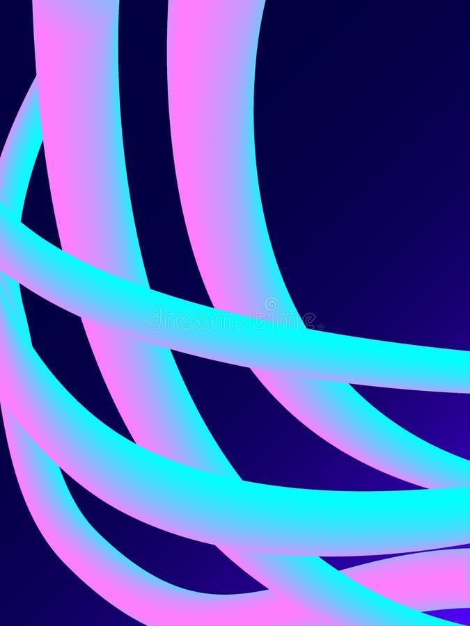 Forma de néon do vetor do sumário 3d Inclinação fluido líquido com mistura Efeito 3D moderno futurista Fundo dinâmico colorido de ilustração do vetor