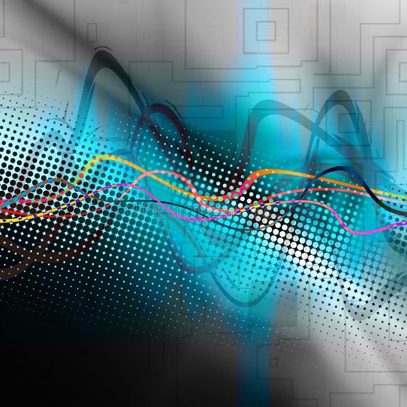 Forma de onda audio gráfica ilustração do vetor
