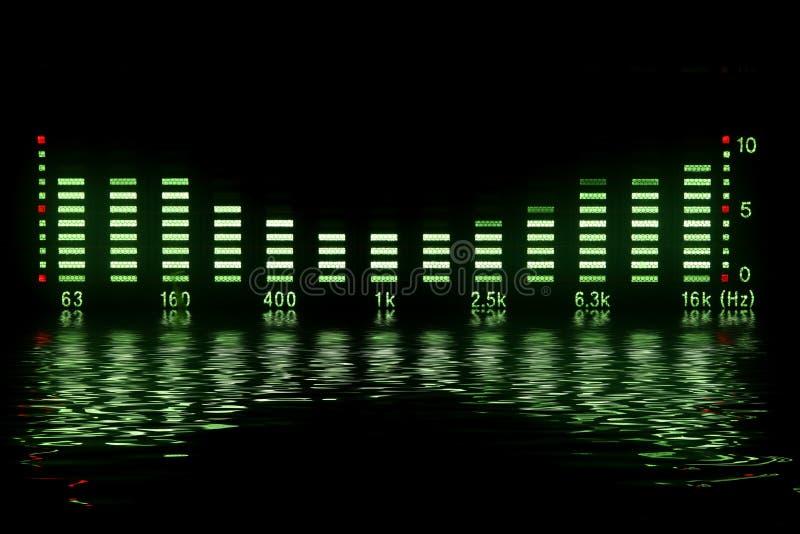Forma de onda da música imagens de stock royalty free