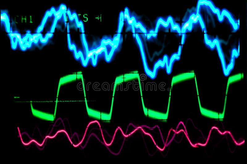 Forma de onda del osciloscopio imagen de archivo libre de regalías
