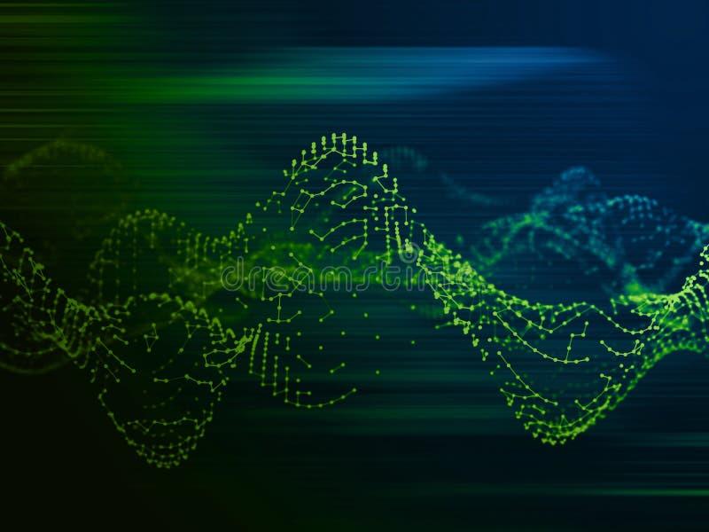 Forma de onda geométrica abstracta Estructura audio de la falta de definición ilustración del vector