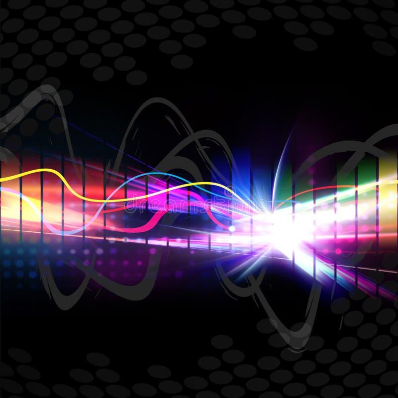 Forma de onda musical del arco iris ilustración del vector