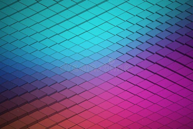 Forma de onda tecnologico Backround do vetor abstrato ilustração stock