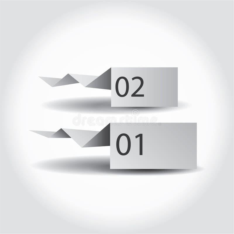 Papel con los elementos numerados libre illustration