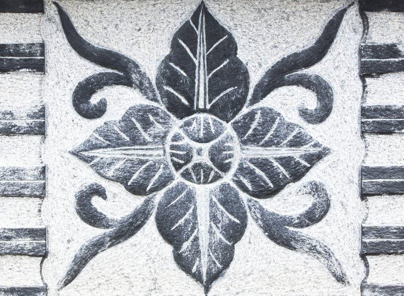 Forma de piedra tallada de la flor fotografía de archivo libre de regalías