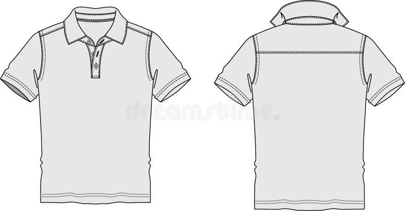 Forma de Polo Shirt Sketch Graphic Illustrations imagem de stock