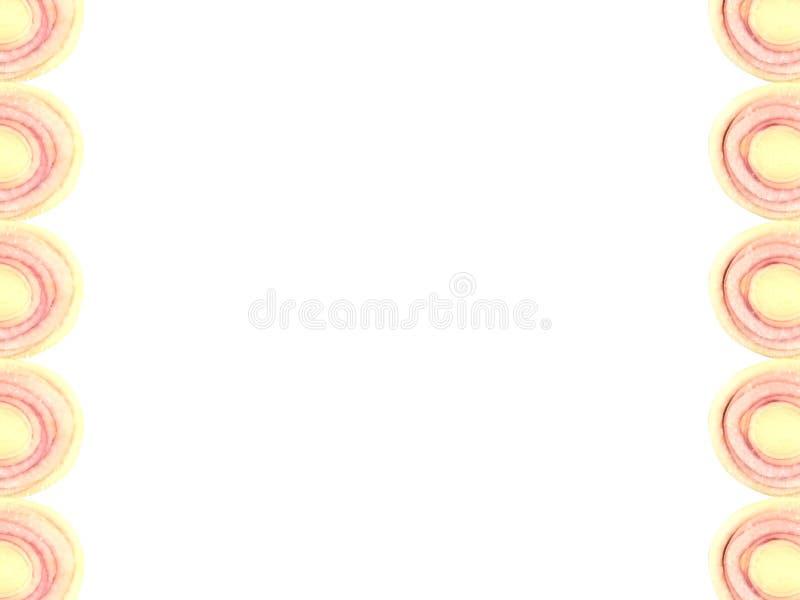 Forma de um quarto da fatia do nardo no canto isolado no fundo branco fotografia de stock