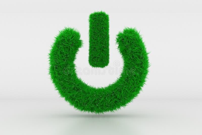 Forma de um sinal à espera com grama verde fotografia de stock