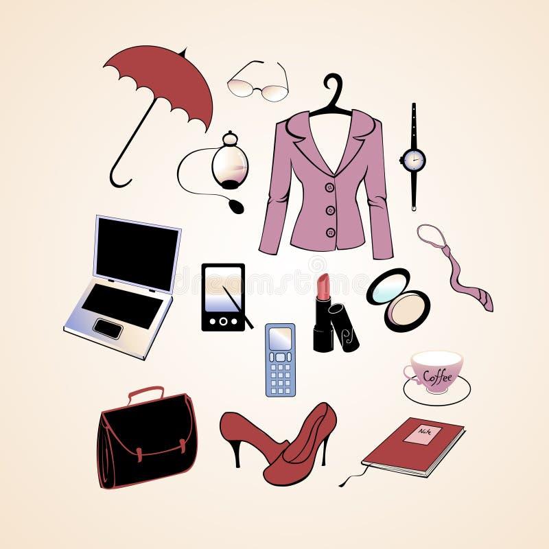 Forma de vida de la mujer de negocios stock de ilustración