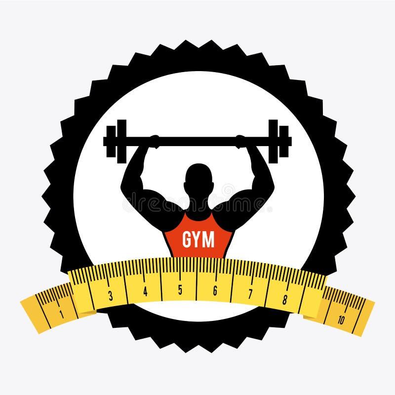 Download Forma de vida sana ilustración del vector. Ilustración de gimnasio - 42427163