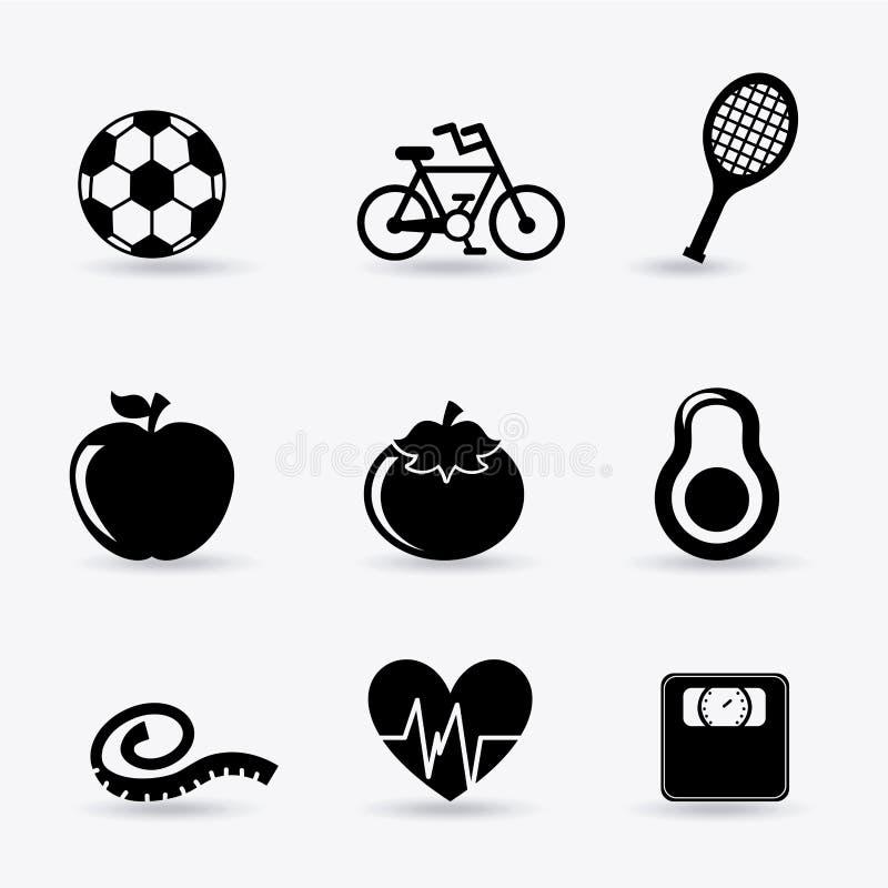 Download Forma de vida sana ilustración del vector. Ilustración de manzana - 42427170