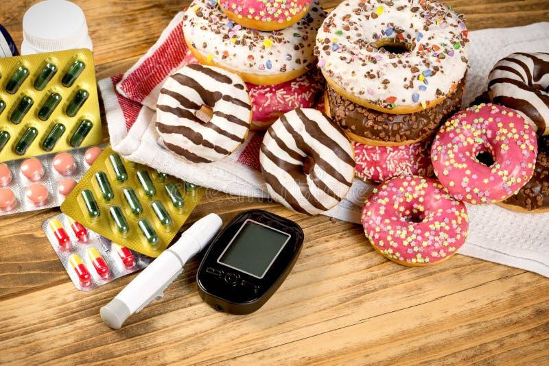 Forma de vida sana, dieta sana sin el azúcar, sin diabetes-diabético fotografía de archivo