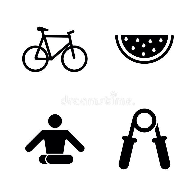 Forma de vida sana Iconos relacionados simples del vector ilustración del vector