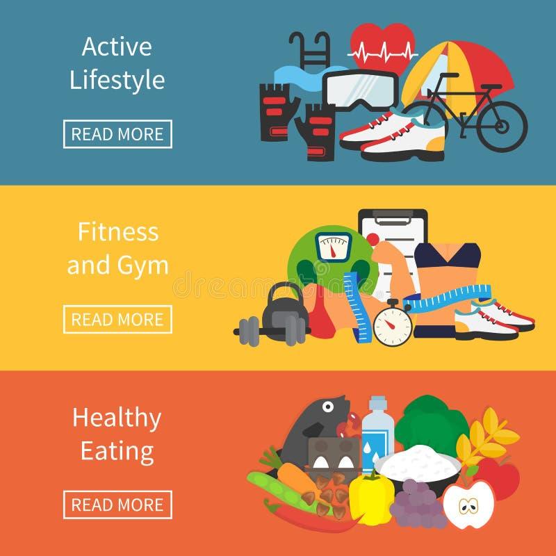 Forma de vida sana infographic ilustración del vector