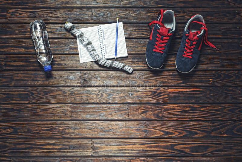 Forma de vida sana, zapatillas deportivas, zapatillas deportivas, zapatos de la aptitud, fotos de archivo libres de regalías