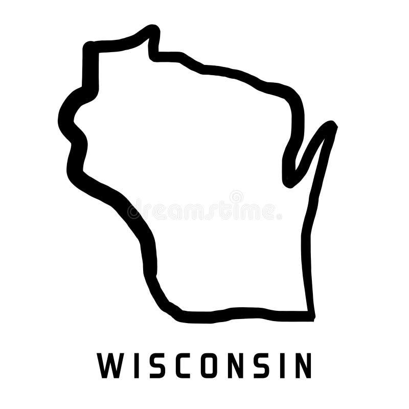 Forma de Wisconsin libre illustration