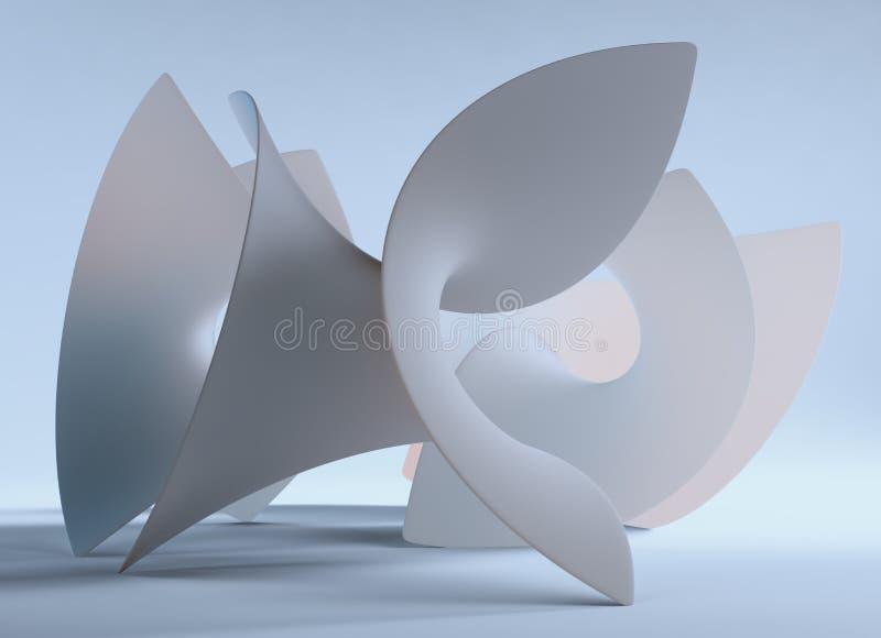 forma del abstrac 3D ilustración del vector