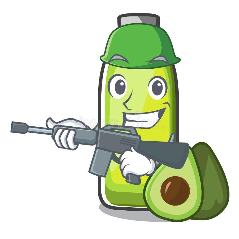 Forma del aceite del aguacate del bolso del ejército de la mascota libre illustration