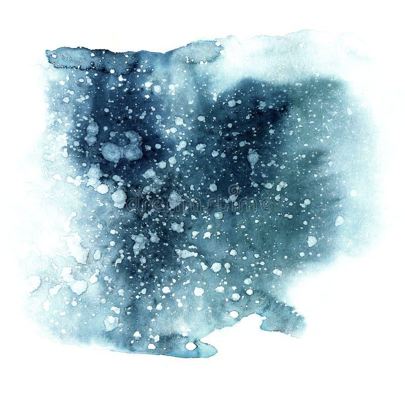 Forma del azul de la acuarela Textura del papel del añil Papel de la acuarela libre illustration