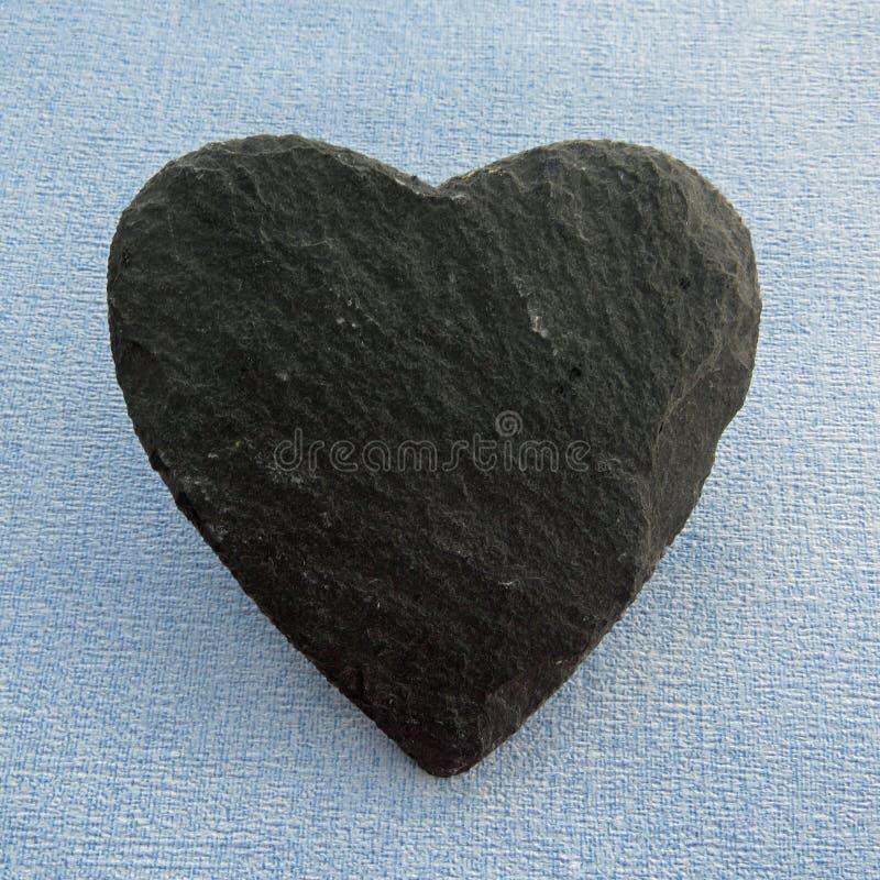Forma del corazón de la pizarra en blanco fotografía de archivo libre de regalías
