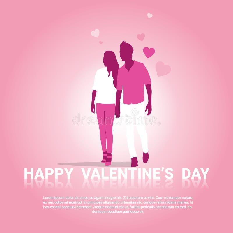 Forma del corazón del amor de Valentine Day Gift Card Holiday ilustración del vector