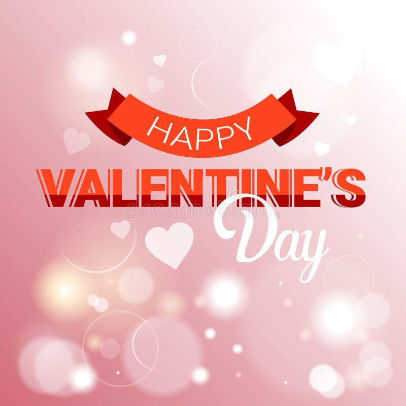Forma del corazón del amor de Valentine Day Gift Card Holiday stock de ilustración