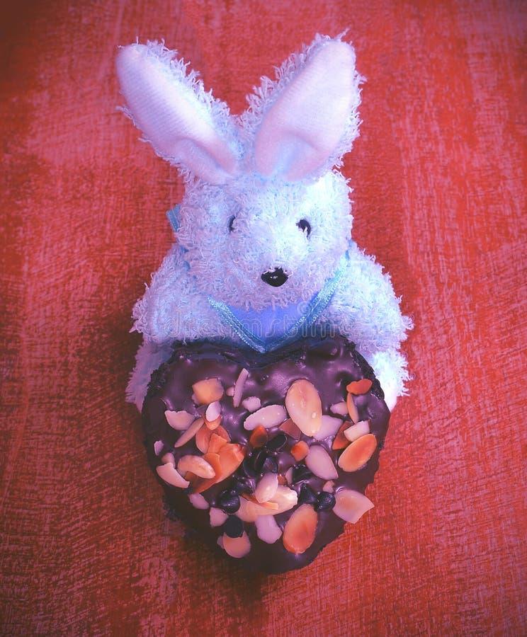 Forma del cuore del cioccolato fotografia stock