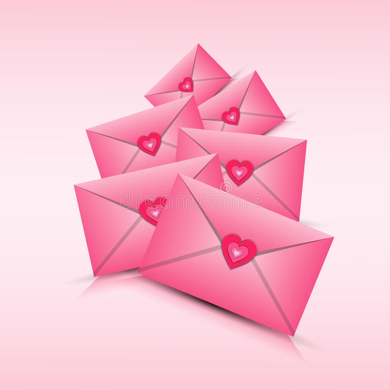 Forma del cuore di amore di Valentine Day Gift Card Holiday illustrazione di stock