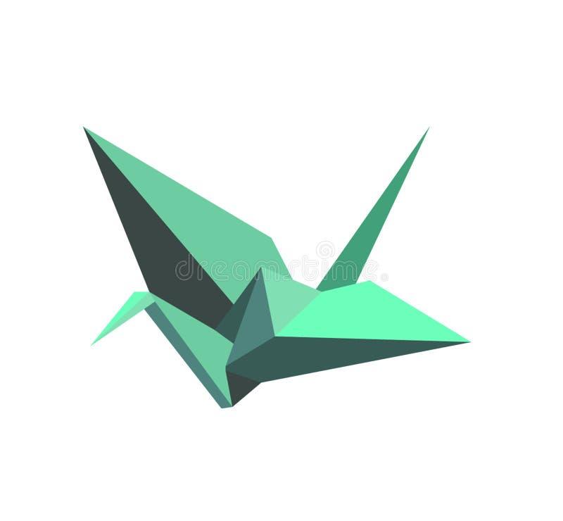 Forma del pájaro de la papiroflexia imagenes de archivo