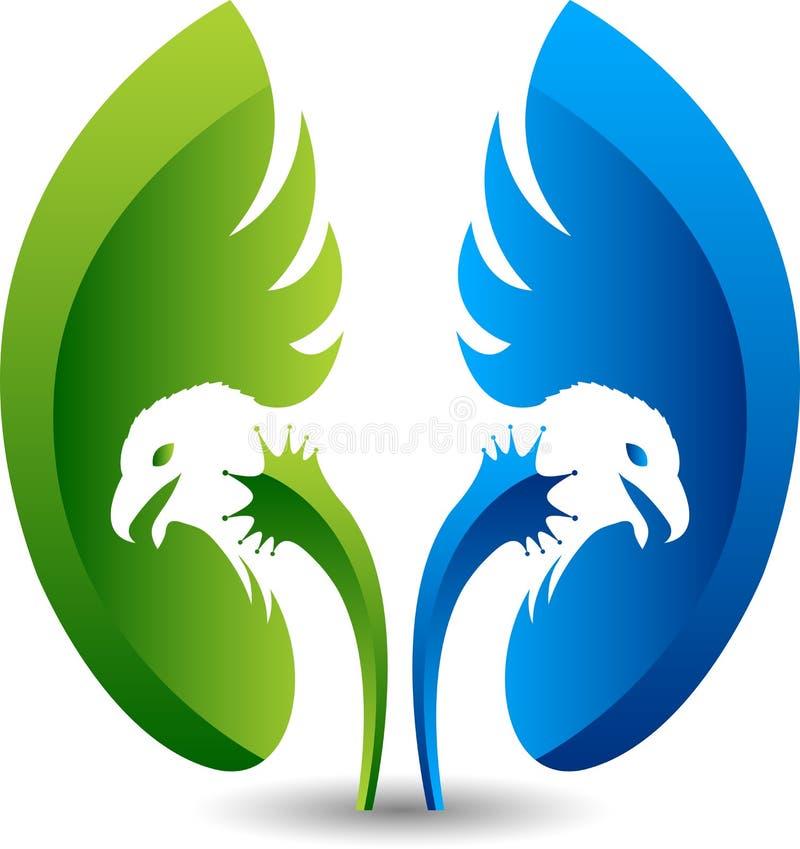 Forma del riñón y logotipo del águila ilustración del vector