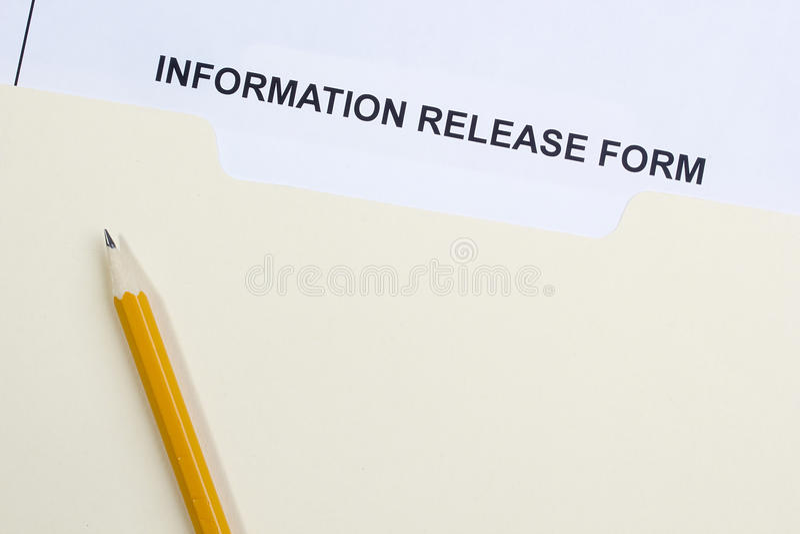 Forma del rilascio di informazioni immagine stock