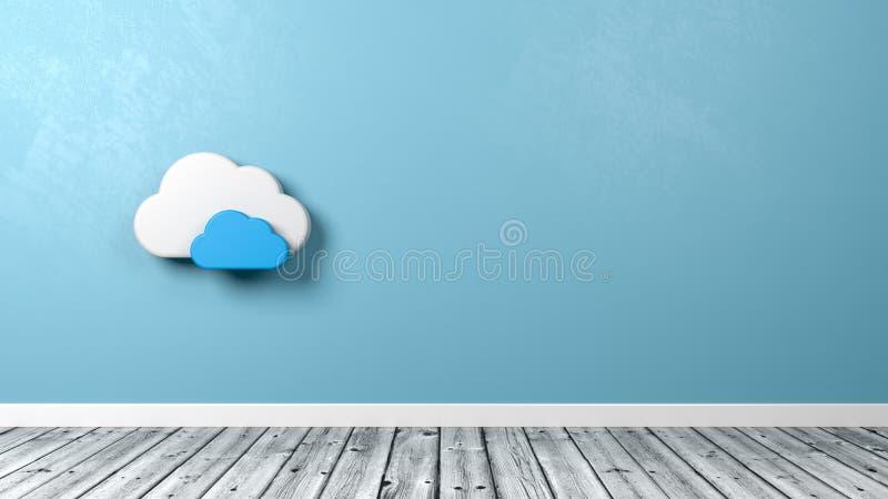 Forma del símbolo de la nube en el cuarto stock de ilustración