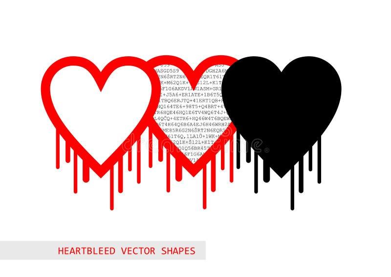 Forma del vector del insecto del openssl de Heartbleed libre illustration