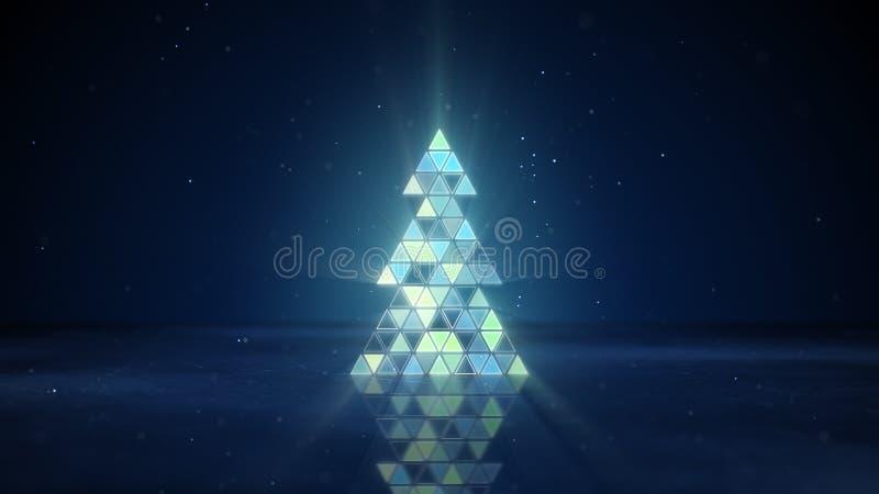 Forma dell'albero di Natale dei triangoli infiammanti royalty illustrazione gratis