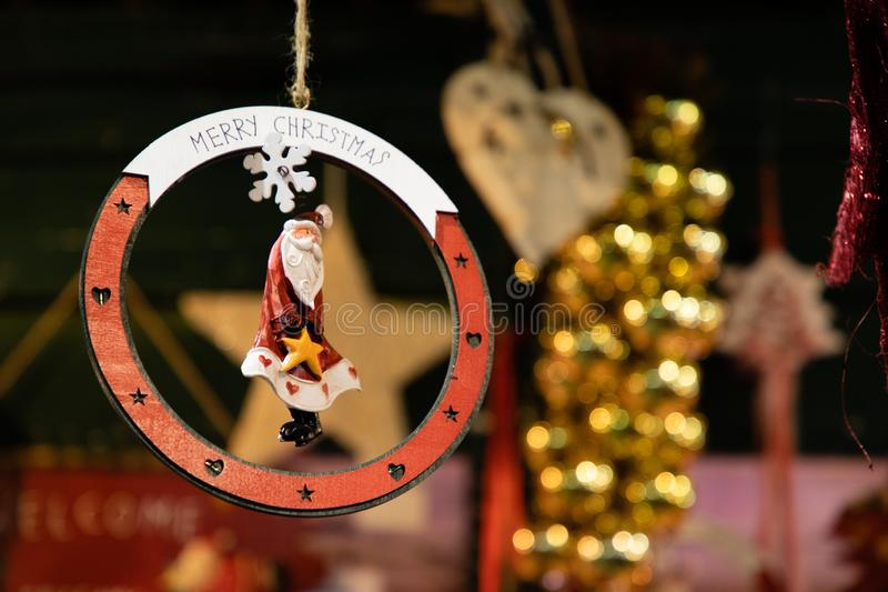 Forma della decorazione della stella dell'albero di Natale immagini stock