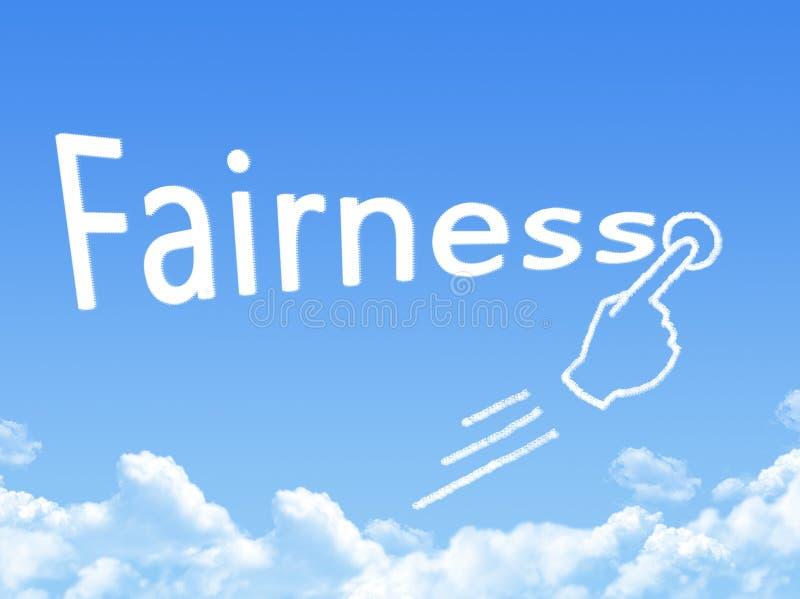 Forma della nuvola del messaggio di imparzialità immagine stock libera da diritti