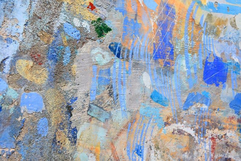 Forma della pittura di spruzzo sulla parete fotografia stock libera da diritti