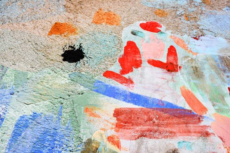 Forma della pittura di spruzzo sulla parete fotografia stock