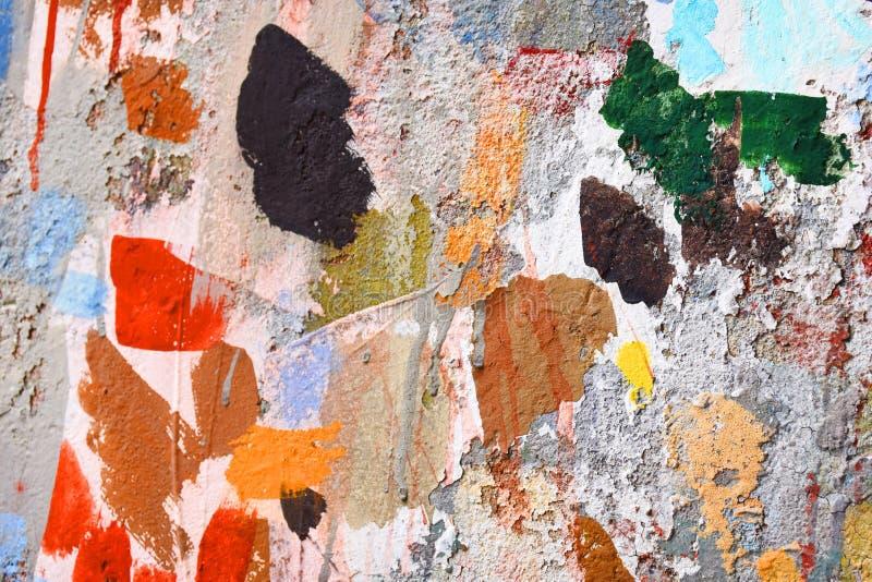 Forma della pittura di spruzzo sulla parete fotografie stock