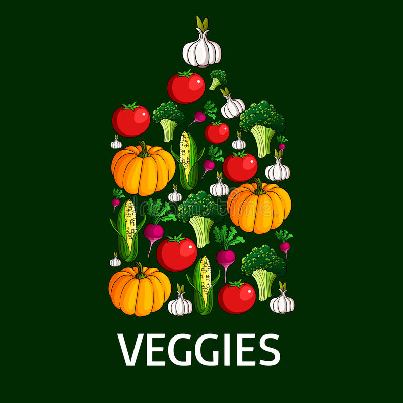 Forma delle verdure di un tagliere illustrazione di stock