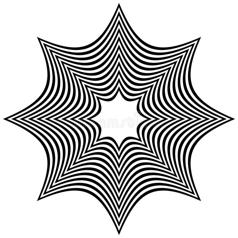 Forma distorcida contrasty abstrata ilustração do vetor